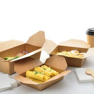 NaturePack® - PLA Lined Kraft Fold-Top Takeout Box
